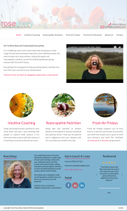 Rose Dixey full website screenshot